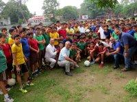 Presentation of International Soccer Balls to School