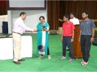 Donation of World Class Hockey Sticks To The School